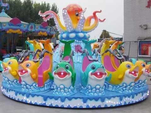 Kiddie amusement rides jump octopus rides