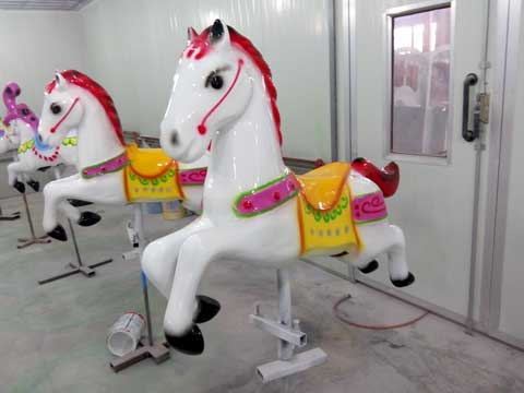 Red Carousel Horse for Australia from Beston