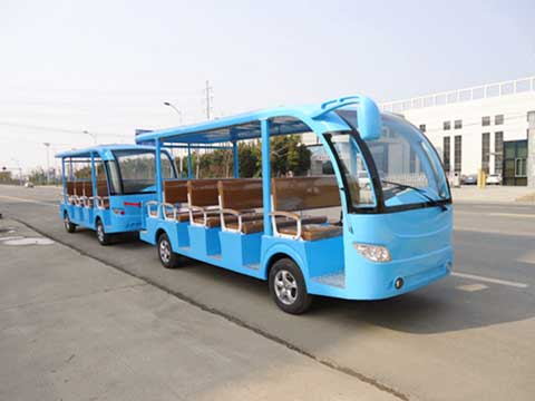 Blue Trackless Train for Australia
