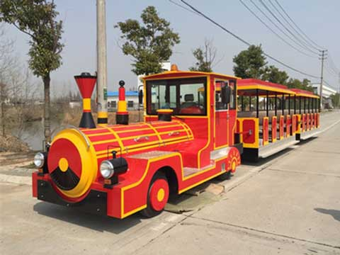 Red Trackless Train for Sale from Beston Amusement