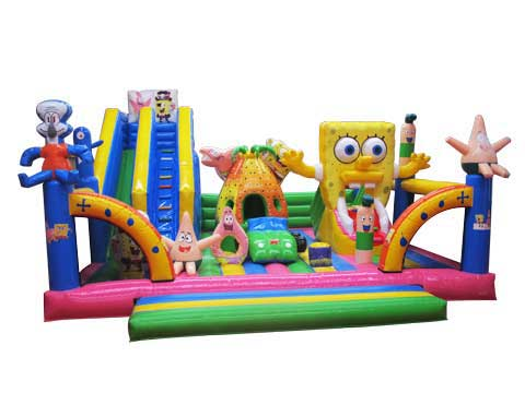 Inflatable Spongebob Fun City for Kids for Customer