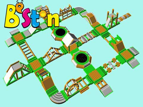 Beston New Inflatable Water Obstacle Course