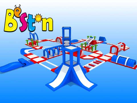Large Inflatable Water Obstacle Course