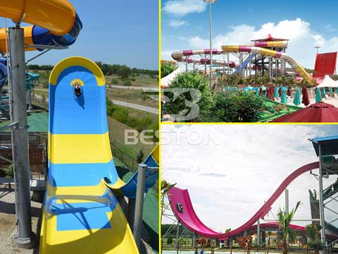 Details of Family Drift and Cyclotron Water Slide for Sale In Australia