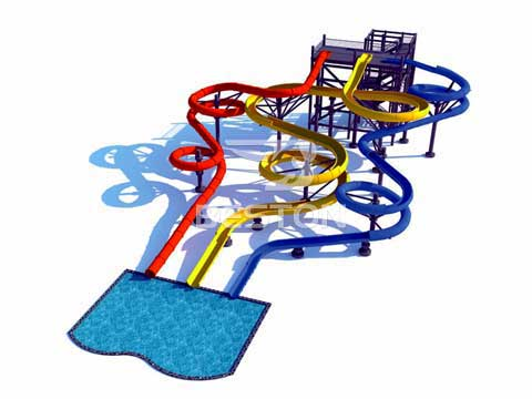 BWS-02 Large Fiberglass Water SLides for Sale In Australia