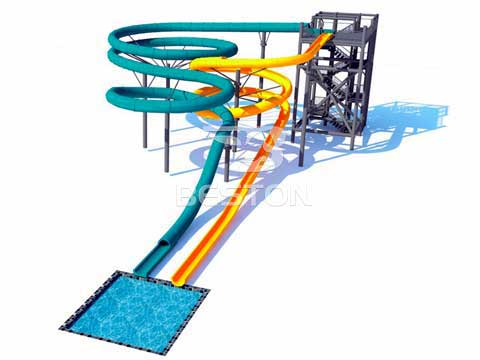 Large Fiberglass Water Slides for Sale In Australia