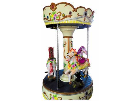3 Horse Mini Carousel for Sale