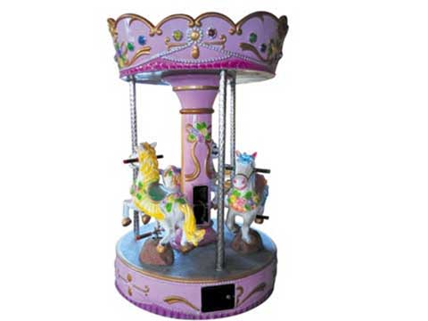 Mini Coin Operated Kiddie Carousel