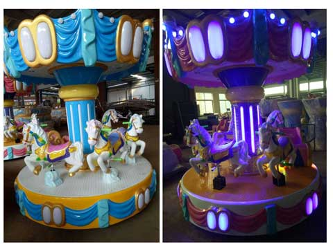 Coin Operated Kiddie Carousel Rides