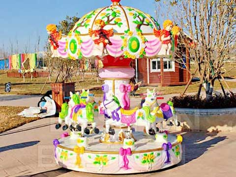 Beston New 6 Kids Mini Carousel