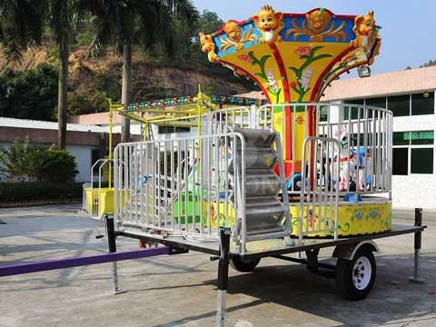 6 Seat Portable Kiddie Carousel Rides