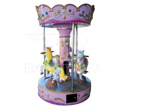 Pink Mini Carouel With 3 Horse