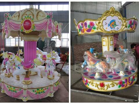 Kids Miniature 6 Horse Carousel